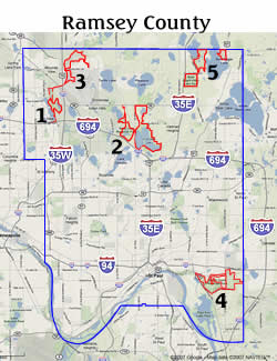 Ramsey County Map Ramsey County MN Plant Survey Volunteer Project Ramsey County Map